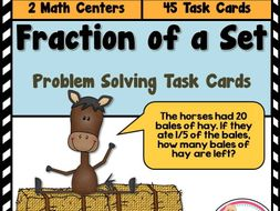 Fraction of a Set Problem Solving Task Cards