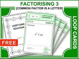 Factorising 3 (Loop Cards)