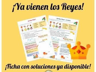 El día de Reyes ficha con soluciones- The Three Wise Men day- worksheet with answers