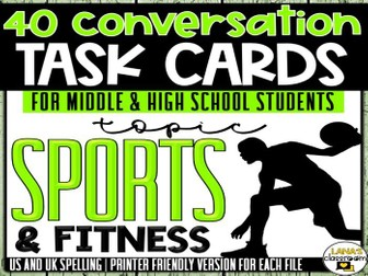 Conversation Starter Cards | Sports | Social Skills for Middle&High