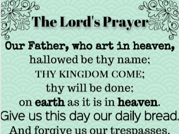 graphic regarding Printable Lord's Prayer named Lords Prayer (standard)- printable