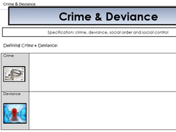 AQA Sociology - Year 2 - Crime & Deviance - Complete Unit