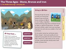 The Middle Stone Age: Everyday Life - Interactive Teaching Book - The Stone Age KS2