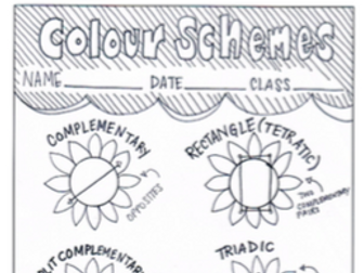 Colour Theory  Schemes Learning Sheet