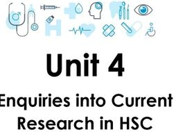 BTEC Level 3 Health and Social Care Unit 4 Enquiries into Current Research in HSC Introduction 2019