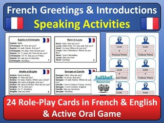 French Greetings / Introductions Role-play and Oral Game