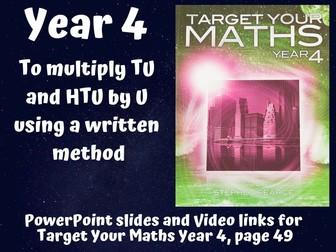 Multiplication - GRID METHOD to COLUMN METHOD
