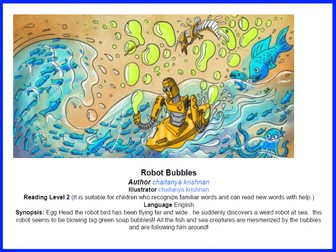 Can you spot it? Robot bubble story - Reading Level 2 - Fun English Game