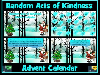 Advent: Advent Calendar: Acts of Kindness
