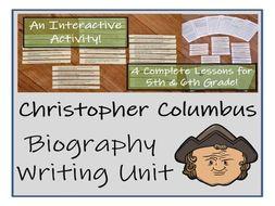 UKS2 History - Christopher Columbus Biography Writing Activity