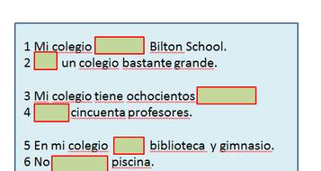 Mi colegio - my school in Spanish