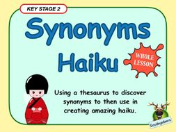Synonyms and Haiku