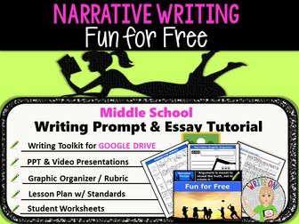 Narrative Writing Lesson / Prompt – Digital Resource – Fun for Free – Middle School