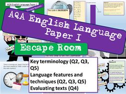 AQA English Language Paper 1 Escape Room