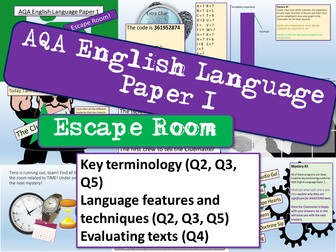 AQA English Language Paper 1 Escape Room