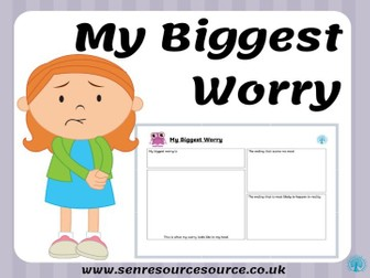 My Biggest Worry Worksheet