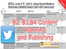 2016 BTEC Level 3, IT, Unit 3 Using Social Media in Business Detailed lesson plan with resources