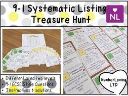 Systematic Listing GCSE 9-1 Foundation Treasure Hunt