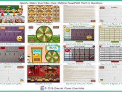 Kooky Class Spanish PowerPoint Game Template FREE READ ONLY SHOW