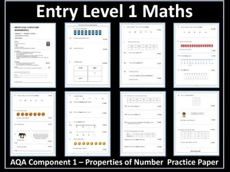 AQA Entry Level Maths Assessments - 1 Numbers to 20