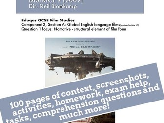 District 9 GCSE Film Studies study guide / ebook / revision guide / scheme of work