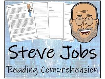 UKS2 Literacy - Steve Jobs Reading Comprehension Activity