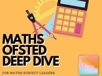 Ofsted Maths Deep Dive