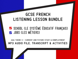 GCSE French Listening Lessons - Education, Jobs and School