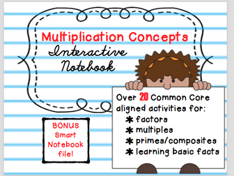 Multiplication Concepts Interactive Notebook