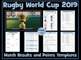 Rugby World Cup 2019 Results Templates
