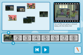 Sam Gets Lost Sequence and Retell - Interactive Activity - Bonfire Night KS1