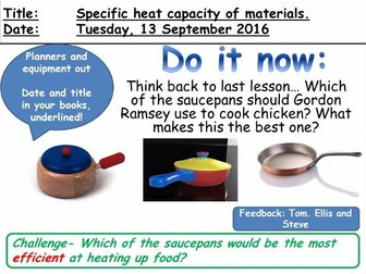Specific Heat Capacity of Materials