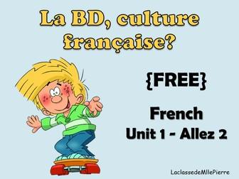 {FREE} Allez 2 - unit 1.5 -La BD - French cartoon characters {EDITABLE}