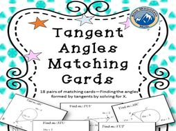 Tangent Angles--Solve for x Matching Card Set