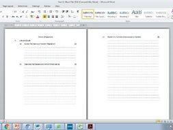 Eduqas Route B GCSE Mock examination paper and mark scheme (does not use sample Eduqas Q's/ SAMs)