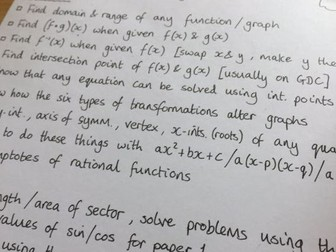 IB Maths SL - Revision Checklist