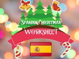 Spanish Christmas Worksheet Navidad