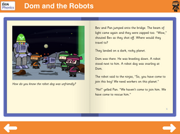 Dom and the Robots Reading Book - Phase 5