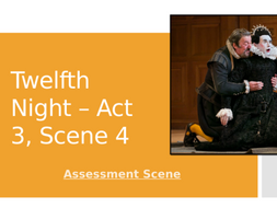 Shakespeare: Twelfth Night. Act 3, Scene 4. Essay writing about Malvolio.