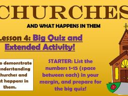 Churches - Big Quiz and Extended Activity!