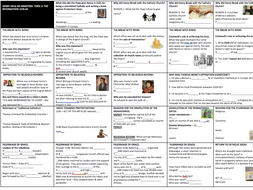 EDEXCEL 9-1GCSE - Topic 3: HENRY VIII SUMMARY 'TOPIC ON A PAGE' consolidation, revision, resource