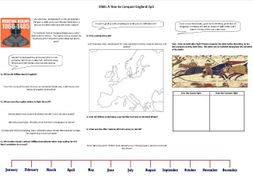 1066: A Year to Conquer England Ep3 - Worksheet to support the BBC Documentary with Dan Snow