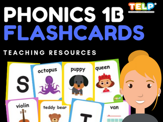 PHONICS 1B - FLASHCARDS