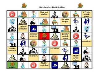 Aktivitäten (Activities in German) Schnecke Snail Game