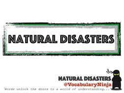 Natural Disasters Topic Vocabulary Pack