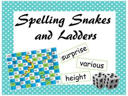 Spelling Snakes and Ladders