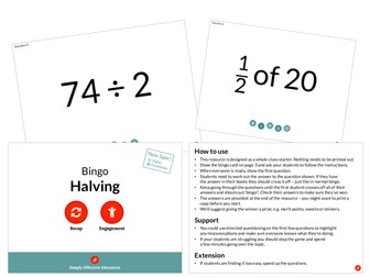 Halving (Bingo)