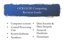 OCR Computing Revision Guide