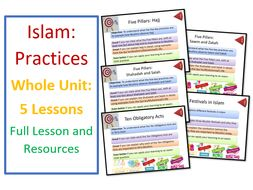 GCSE Islam: Practices - Whole Unit of Lessons