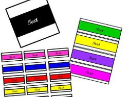 EDITABLE LABELS- Bold labels for your whole classroom in both black and white and vibrant colours